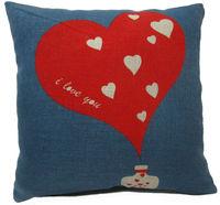print i love you Cotton Linen Throw Pillow Cases Home Decor Sofa Cushion Cover