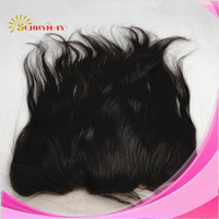 In Stock 100% Brazilian  Virgin Hair Natural Straight 13*4 Natural Color lace frontal ,no shedding and no tangle