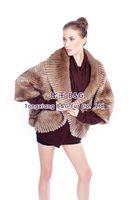 BG80148 Genuine Musk Fur Jacket With Big Yards Winter Stripes Women Sexy Short Coat Plus Size OEM