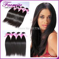Ali Favorite Human Hair Virgin Brazilian Silky Straight Hair Weaves Unprocessed Brazilian Straight Human Hair Extension 4pcs lot