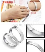 2014 New Stainless Steel Titanium men women Titanium 316L Forever Love Promise Lovers Couple Wedding Rings