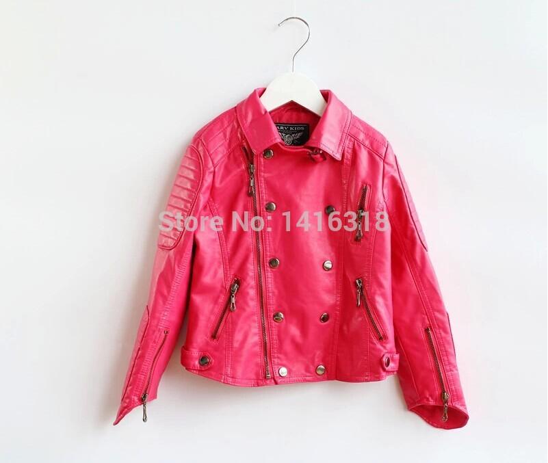 Marca 2015 Z * meninas jaqueta de couro casaco inverno menina meninas casacos de couro PU jaqueta couro infantil menina casaco para as meninas(China (Mainland))