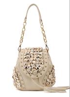 2014 Korean multi-button tassel bucket shoulder bag Shoulder Messenger three diamond handbags wholesale