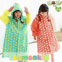 2014 New lemonkid Children cartoon Raincoat with Schoolbag position 24508#