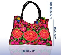 Free shipping Ethnic Embroidery package tour selling ladies shoulder bag lady style handbag design messenger bag Gift Wholesale
