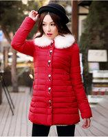 Thicken  down coat   2014 New  Winter  Free shipping   duck down jacket women