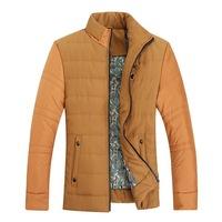 Autumn & Winter Man Casual Jackets Plus Size L-3XL Patchwork Design Stand Collar Urban Men Warm Fashion Outerwear