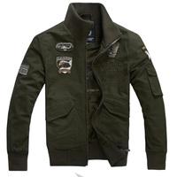 Military Style Men Fashion Jackets Plus Size M-3XL Autumn Spring Eagle Flag Badge Design Urban Man Army Green Casual Coats