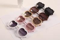 Super Beautiful Metal Frame Heart Shape Sunglasses 2014 new brand designer glasses oculos de sol  jwf-014
