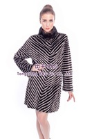 BG80145 Real Mink Fur Twill Coat For Lady Winter Long Sleeves And Warm Fur Clothes Customize Big Yards