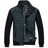 Korean Fashion Clothing Men Casual Coats Size L-3XL Autumn Winter Patchwork Design Stand Collar Man Leisure Warm Jackets