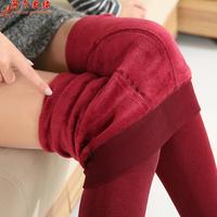 8 Color 2015 New Winter Cashmere Pants Woman Fashion Warm High Waist Faux Velvet Knitted Thick Slim Leggings Super Elastic pants