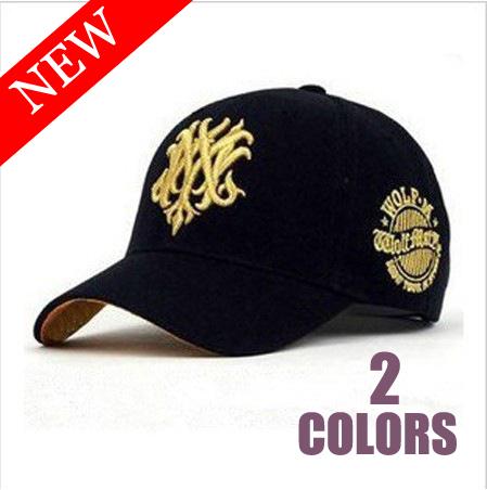 white black Men Wolf Letter Cotton Hats & Caps Adjustable Bone Baseball Caps gorras diamond snapback Women Hairwear Accessories(China (Mainland))