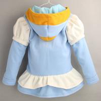 Wholesale Cinderella Jacket For Baby Girls Fleece Kids Coat 2014 Design Children Girl Autumn Hoodies Clothing Fashion Kid Wear