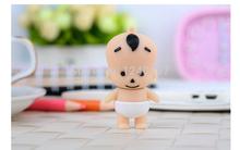 2014 new silicone smile baby cartoon theme of creative U Disk pendrive 4GB 8GB 16GB usb flash drive pendrive free shipping(China (Mainland))