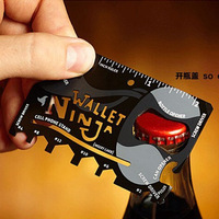 2014 New Multi-function Outdoor Knife Tools,Credit Card Survival Knife,Portable Wallet Knife,18 functions in 1
