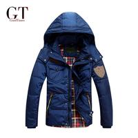 GT 2014 Men Duck Down Winter Coat  Detachable Waterproof  Winter Coat Men 90% Down Jacket Coat Plus size Free Shipping GT06