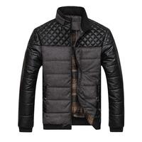 Classic Brand Men Fashion Warm Jackets Plus Size L-4XL Patchwork Plaid Design Young Man Casaul Winter Coats