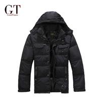 2014 New arrival  Big sale Men Black Down Jacket Winter Outdoor Parka Waterproof and Warm Top quality Plus Size L-XXXXL GT10