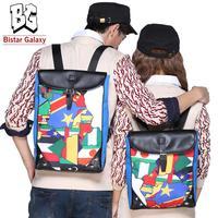 Unisex Mochilas Backpacks Korean Printing Backpack Women Men Brand Canvas School Bag for Boys Girls BBP502S