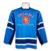 Team Finland Hockey jersey IIHF 2010 Swift Replica Olympic game Jersey Teemu Selanne 8# Anaheim Mighty Ducks Jersey