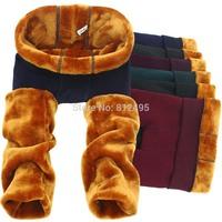 golden plus velvet thickening legging plus size one piece pants warm plush thicken pants