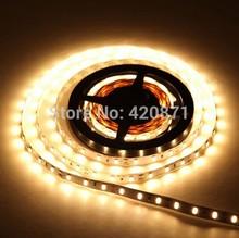 5M Roll 3528 SMD Waterproof 120 LEDs/M 600 LEDs 12vdc Warm White IP65 Flexible LED Strip Light Free Shipping(China (Mainland))