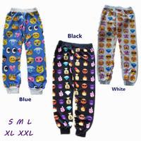 Hot! 2014 New Emoji joggers for Men and Women Unisex Good Quaility Casual Pants 3 Colors emoji sweatshirt clothes free shipping