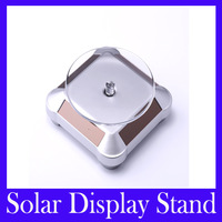 Free shipping Solar Powered Jewelry Phone Watch Rotating Display Stand Turn Table,10pcs/lot
