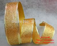 10 pcs Christmas decorations 200 * 5cm gold color grade Christmas onion powder color ribbon wedding ribbon christmas belt