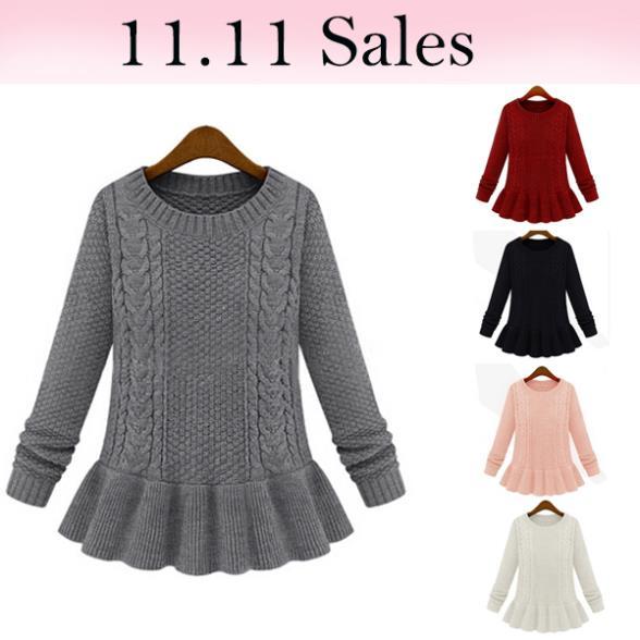 Повседневная зимняя бренда рябить свитер платье