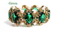 Gorgeous Mode Gothic Women Retro Pearl Beads Shining gleamy Crystals Bangle Bracelet Bling Rhinestone Party Wear ZS*7PJ104#S3
