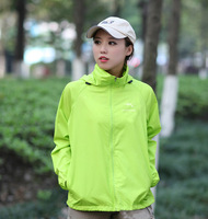 UV Protection Clothing Windproof Waterproof Clothing for Camping Hiking Bicycle Outdoor Clothing Green