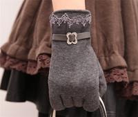 Hot ! Autumn & Winter Women gloves Winter Knit Warm gloves & Telefingers gloves