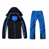 2014 New Mens Windproof High Quality Double Layer Ski Sets Jacket Thinsulate Insulated Thermal Waterproof