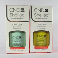 Hot sale!!!24 pcs/lot(Any20 colors+2 base coat+2 top coat)CND Shellac Soak-off UV&LED Nail Gel Polish for nail art 7.3ml