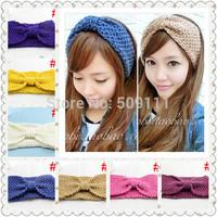 Crochet Headband Knitted Headbands Women's Hairband Winter ear warmer 19 Color Choice 1pc WH065