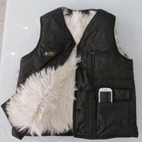 2014 winter wear in the elderly a long wool-lined sheepskin vest vest jacket warm coat vest in older free shipping
