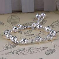 Free Shipping 925 Silver Bracelet Fashion Jewelry Bracelet Full Three-Dimensional Hollow Ball Bracelet Y20*MHM588#S7