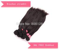 3 pcs hair weaving brazilian virgin straight hair extenstions human Natural Black unprocessed hair Queen hair products
