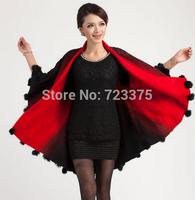 2015 New Hot Fashion Elegant Lady'S Cloak Sheep Fur Shawl Plus Size Sweater Outerwear Cardigan Womens knitted Coat loose sweater