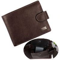 100% genuine leather coin purse 2015 hasp business men's wallets cow leather card & money holder male bag wholesale