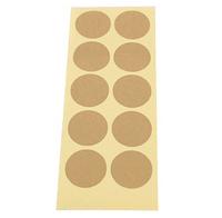 Wholesale,(1 Lot =540 Pcs) 3.5*3.5 CM DIY Scrapbooking Kraft Paper Round Labels Envelopes Stickers Hand Made Seals Sticker