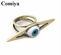 Vintage eye blue Big punk ring for 2014 wedding women jewelry dress rings brand Finger accesorios Ring Brand Jewelry
