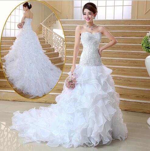 Свадебное платье Wedding dress 2015 bridal gown свадебное платье bridal wedding dress vestido organza wedding dress