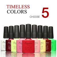 Sapphire Gel The Best UV Gel 7.3ml Color Bottle Soak Off UV Gel Polish 14 Days Long lasting Gorgeous Color