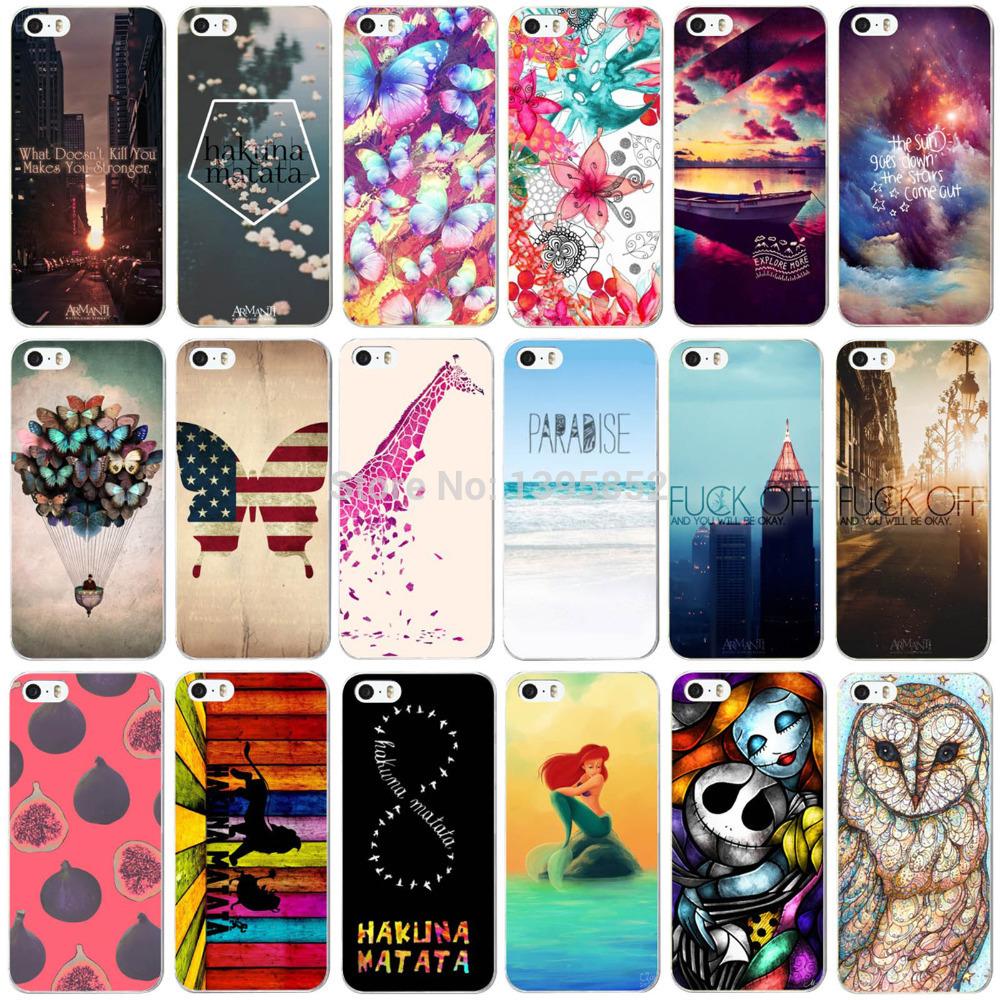 Специальные скидки! телефон кожи для iPhone 5 5S крышка красивые пейзажи цвет ручная роспись телефон чехол