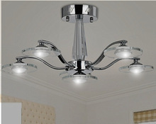 Hat!  Simple modern iron glass e27 lamp lustre Chandeliers Decoration Foyer Bed Room Dining Room(China (Mainland))