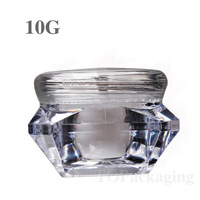 20PCS/LOT-10G Cream Jar,Small Nail Art Canister,Empty Plastic Cosmetic Container,MINI Sample Makeup Sub-bottling,Diamond Shape