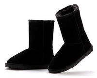 New Women Classic Australian Genuine Leather Cowhide Half Snow Boots